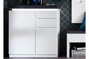 Meuble Gris Et Blanc : meuble d 39 entr e blanc et gris avec clairage pour rangement entr e ~ Teatrodelosmanantiales.com Idées de Décoration
