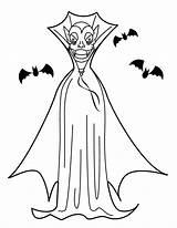 Vampire Coloring Halloween Dracula Coloriage Printable Kolorowanki Vampiro Ausmalbilder Vampir Murcielagos Dibujos Wampir Vampires Dzieci Dla Coloriages Druckbare Malvorlagen Colorare sketch template