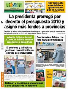 Peri U00f3dico Diario Norte  Argentina   Peri U00f3dicos De Argentina  Edici U00f3n De Jueves  30 De Diciembre