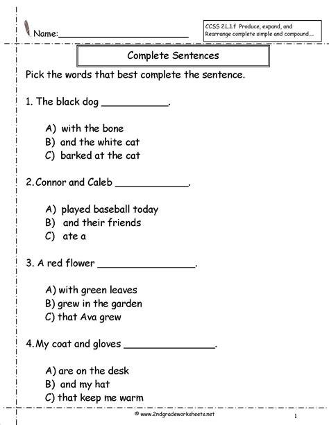 images  statement sentences worksheets