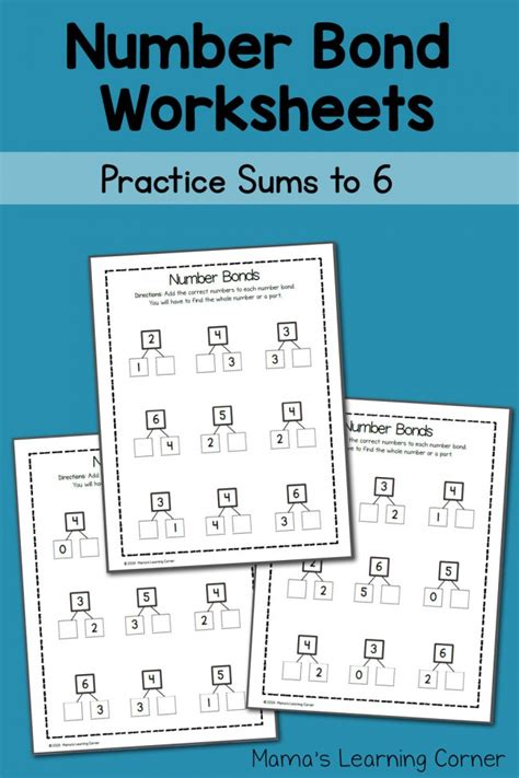 number bond worksheets sums   mamas learning corner