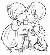 Coloring Couple Popular sketch template