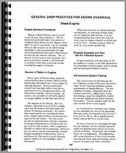 International Harvester 1086 Tractor Engine Service Manual