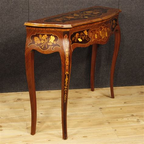 antique l tables sale italian console table in inlaid wood for sale antiques