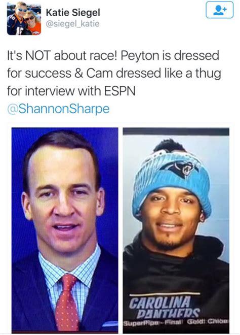 fan calls cam newton  thug  clothing choice