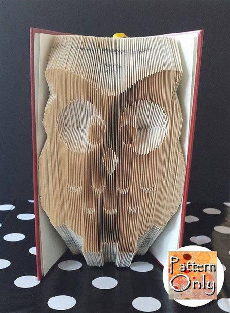 owl folded book art pattern bookart buecher falten