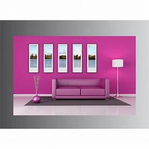 Toile Deco Salon : tableaux toile d co rectangle salon rose stickers autocollants ~ Teatrodelosmanantiales.com Idées de Décoration