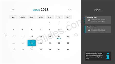 powerpoint calendar template 2018 free 2018 calendar powerpoint template pslides