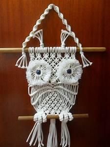 Makramee Eule Anleitung : macrame wall hanging owl eule basteln und kreativ ~ A.2002-acura-tl-radio.info Haus und Dekorationen