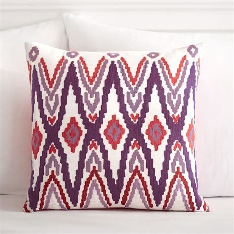 Wood Bead Coastal Pillow Covers Pottery Barn Polyvore by Sunset Ikat Pillow Cover Pbteen