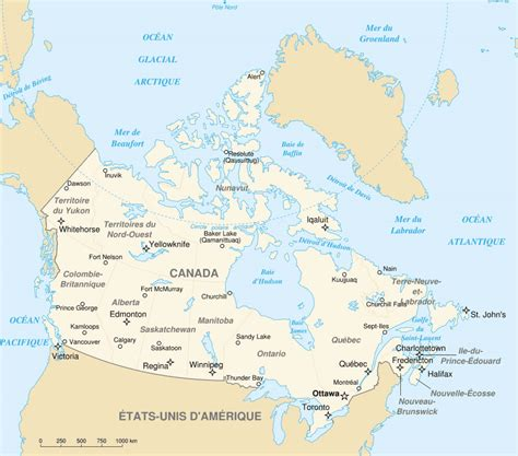 Carte Du Canada Avec Villes by Carte Grande Villes Canada Carte Grande Villes Du Canada