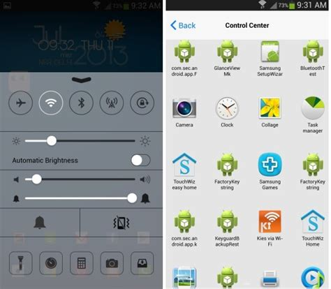 center app for android get ios 7 center look on your android with
