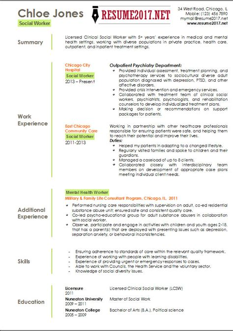 social work resume exle click here to this