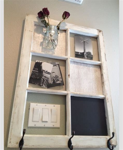 Rustic large window pane mirror. 20+ Remarkable DIY Ideas to Reuse Your Old Windows and Doors