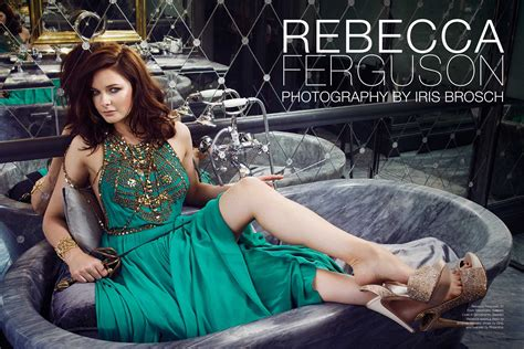 Hair by Carlos Ferraz for Rebecca Ferguson on the cover of ...
