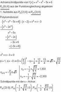 Achsenschnittpunkte Berechnen Quadratische Funktion : l sungen ganzrationale funktionen zur vorbereitung der klassenarbeit i ~ Themetempest.com Abrechnung