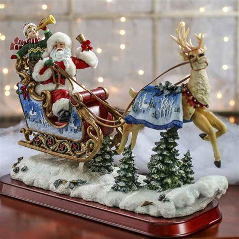 vintage inspired santa  reindeer figurine whats