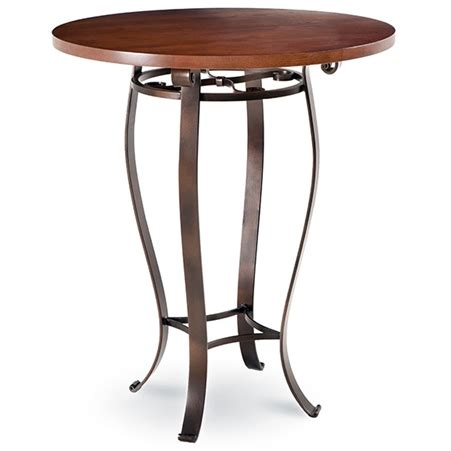 wrought iron pub table camino bar height table with 36 in