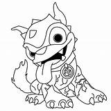 Skylanders Coloring Dog Giants Trap Dessin Colouring Colorare Imprimer Disegni Kleurplaat Coloriage Cliparts Swap Force Spyro Thumpback Skylander Walmart Printable sketch template