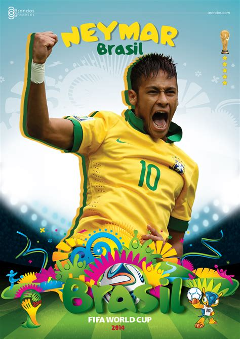 neymar world cup 2014 poster by asendos on deviantart
