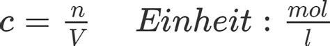 konzentration umsatz stoffmenge und masse berechnen