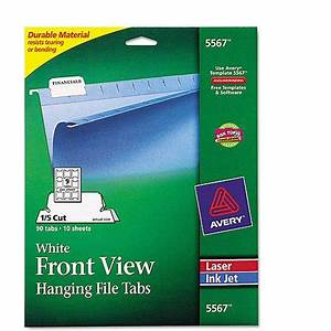 avery printable hanging file tabs for laser and inkjet With avery hanging file folder labels