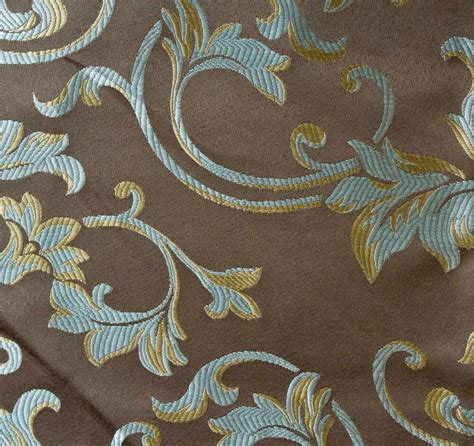 Jacquard Upholstery by 1 Yard Jacquard Brown Floral Design Drapery Upholstery