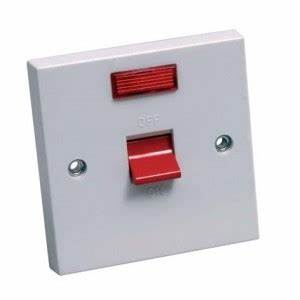 CED 45A Cooker Switch with Neon Indicator 3x3
