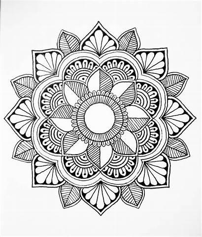 Mandala Geometry Sacred Zentangle Coloring Calming Calm