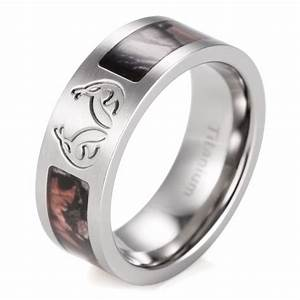 Mens realtree wedding bands mini bridal for Guys camo wedding rings
