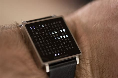 the qlocktwo w by biegert funk is a timepiece for literate of design techcrunch