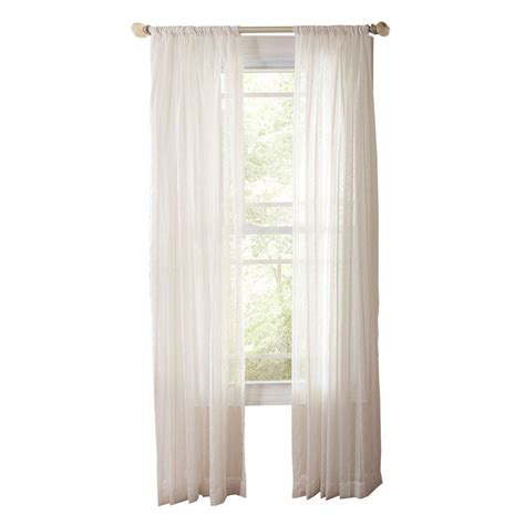 martha stewart living sheer white sheer stripe rod
