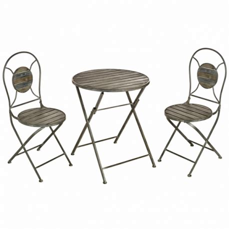 antique grey garden table and chair set forever