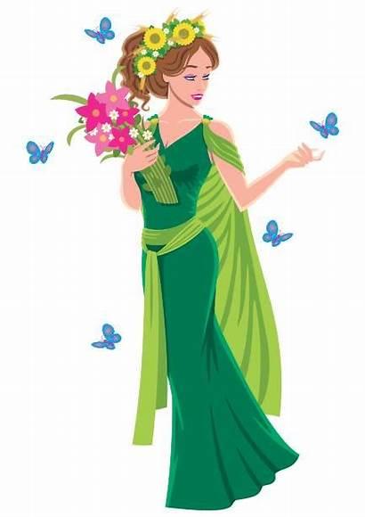 Demeter Goddess Greek Illustration Vector Illustrations Clipart