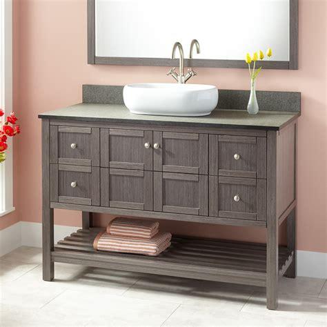 48 Everett Vessel Sink Vanity Ash Gray Bathroom