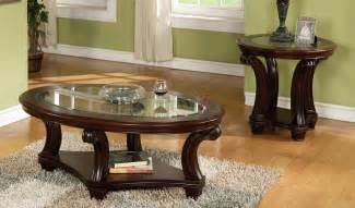 table round glass coffee table with wood base cabin