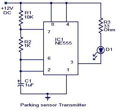 Parking Sensor Circuit Electronic Circuits Diagrams