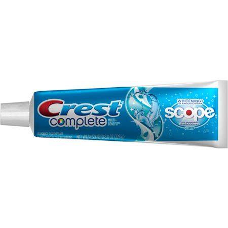 crest complete whitening plus scope cool peppermint flavor toothpaste 8 oz walmart com