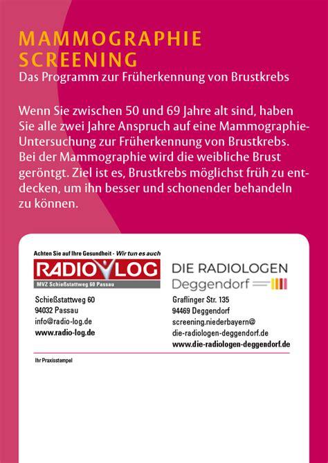 mammographie screening die radiologen deggendorf