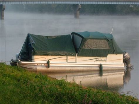 Real Shade Boat Seat Umbrella With Bracket by Turns The Pontoon Into A Tent Great For Visiting Other
