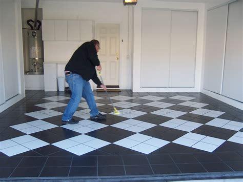 Checkerboard Garage Floor Coating   Carpet Vidalondon