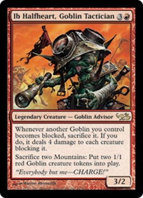 Goblin Token Commander Deck by Ib Halfheart Goblin Tactician Duel Decks Elves Vs