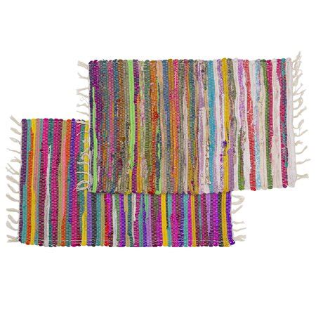 Rag Rugs Walmart 2 chindi rag rugs 20 quot x30 quot multi colored recycled cotton