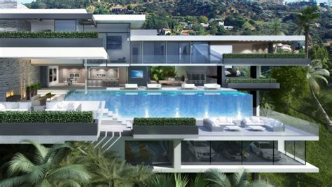 Two Modern Mansions on Sunset Plaza Drive in LA by Ameen
