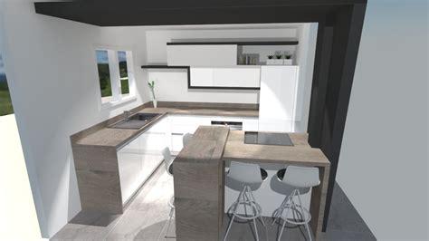 cuisiniste barentin meuble salon noir et blanc 7 cuisine moderne blanche