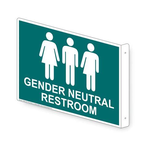Gender Neutral Bathroom Signs by Gender Neutral Restroom Sign Rre 25317proj Whtonbhmablu