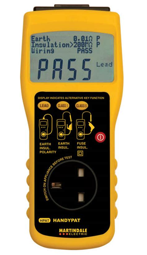 martindale hpat hand held portable appliance tester