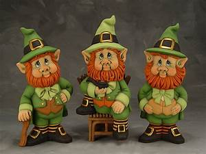 Leprechaun Gnome Collection - Paint Your Own Ceramic Figurines