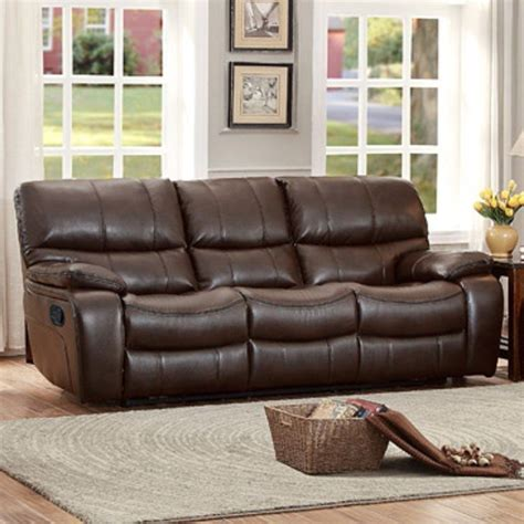 homelegance pecos 8480brw 3pw casual power reclining sofa