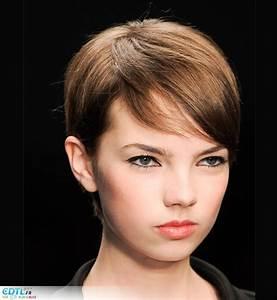 Coupe De Cheveux Courte Tendance 2016 : coiffure courte meche rouge ~ Melissatoandfro.com Idées de Décoration